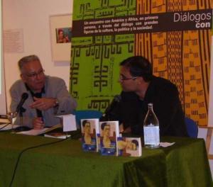 Presentacíon con Fernando Delgado en el Círculo de Bellas Artes de Santa Cruz, 5 de abril de 2006