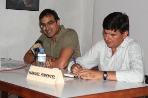 Agüimes, con Manuel Pimentel